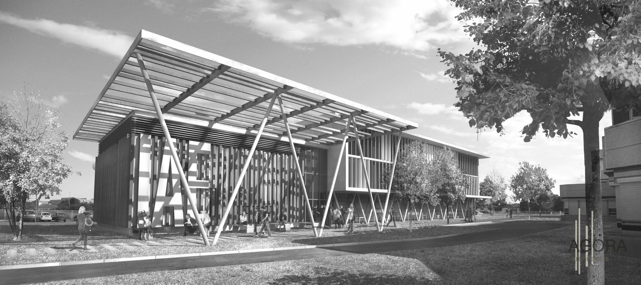 concours iae universit pierre mend s france valence 26 agora architectes grenoble. Black Bedroom Furniture Sets. Home Design Ideas