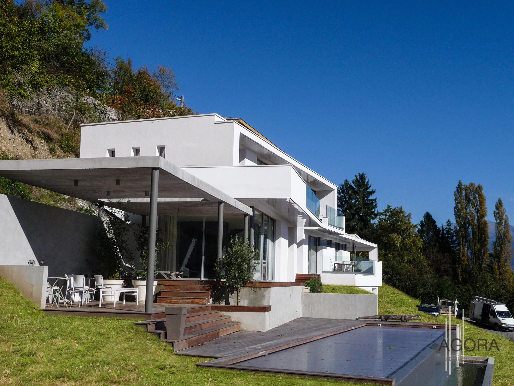 Villa m corenc 38 agora architectes grenoble agora for Architecte grenoble