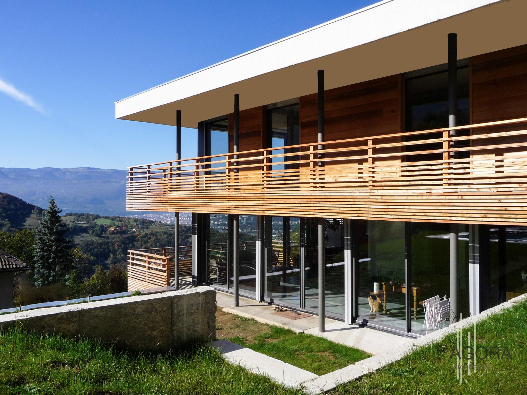 villa o venon 38 agora architectes grenoble agora architectes grenoble. Black Bedroom Furniture Sets. Home Design Ideas