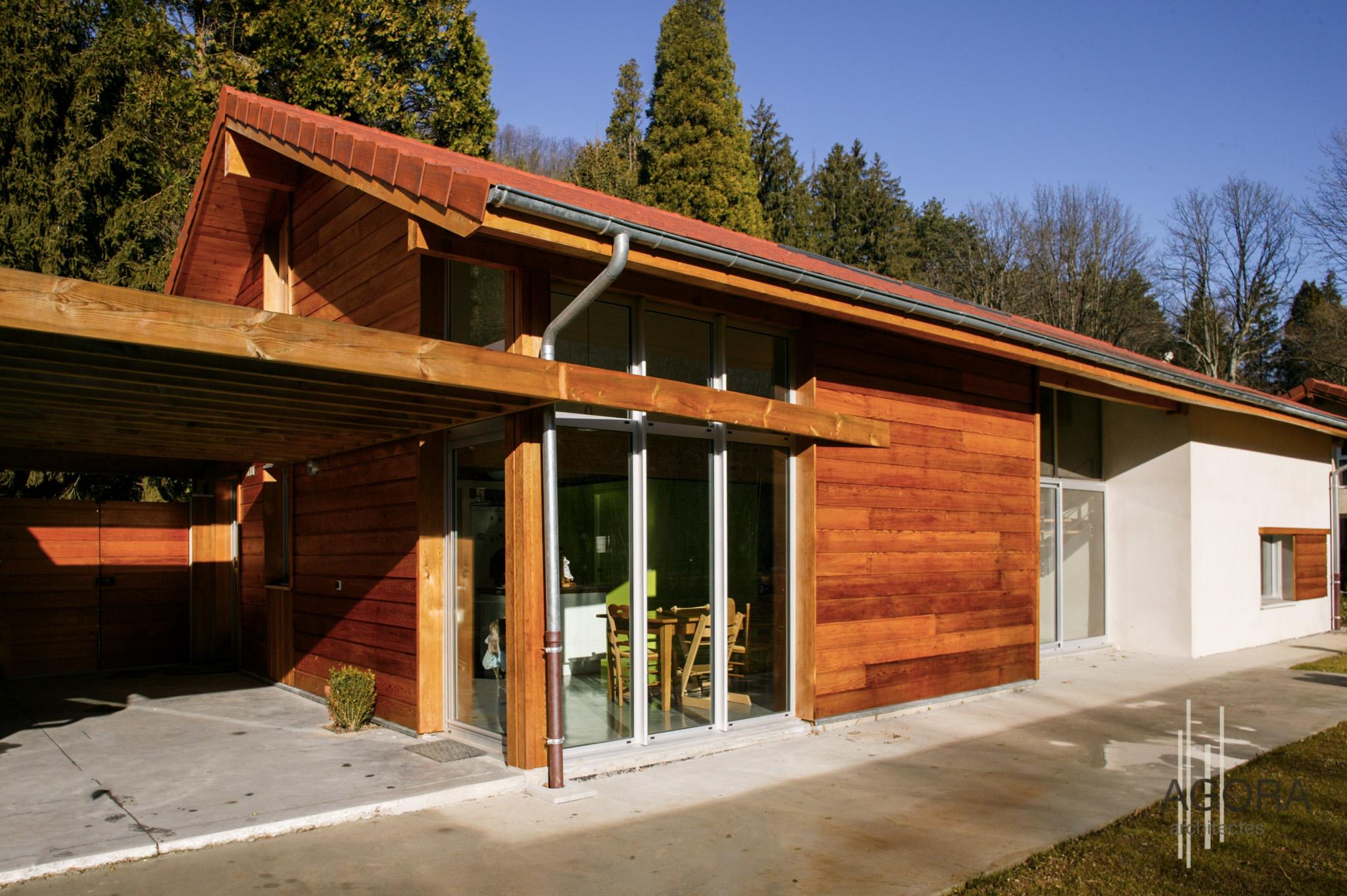 Villa p uriage 38 agora architectes grenoble agora for Architecte grenoble