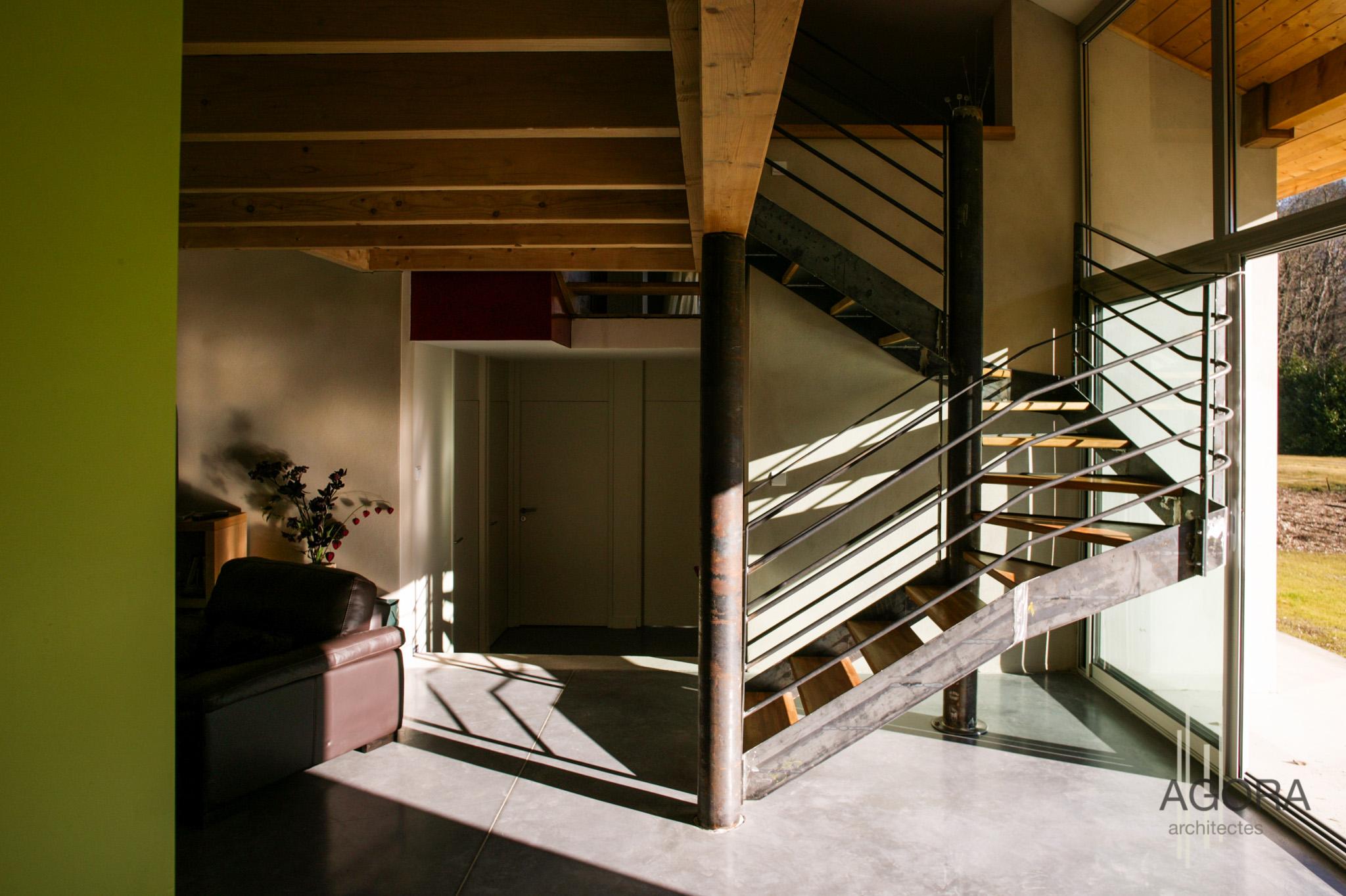 villa p uriage 38 agora architectes grenoble agora architectes grenoble. Black Bedroom Furniture Sets. Home Design Ideas