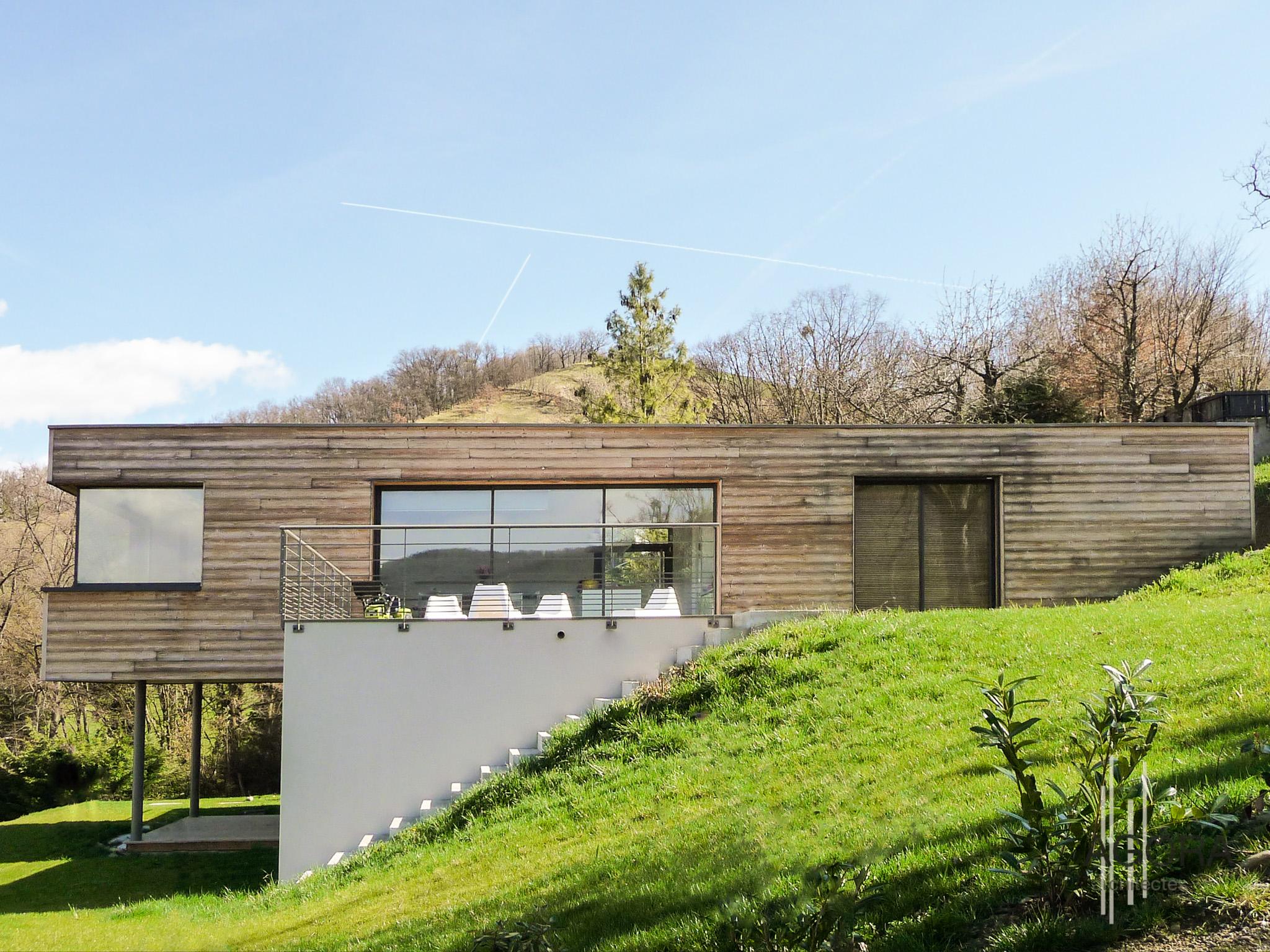 villa r2 venon 38 agora architectes grenoble agora architectes grenoble. Black Bedroom Furniture Sets. Home Design Ideas