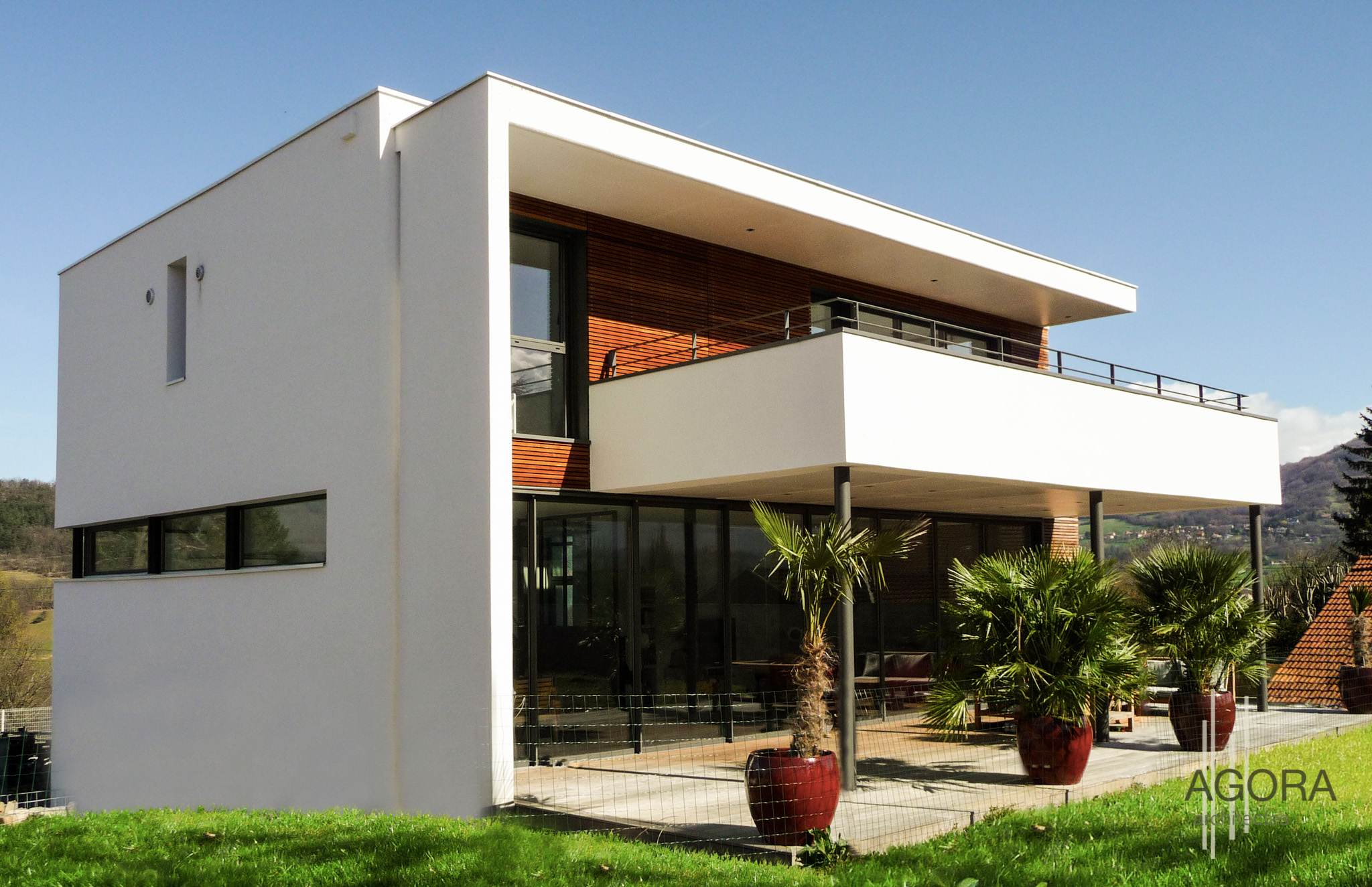 villa z brie et angonnes 38 agora architectes grenoble agora architectes grenoble. Black Bedroom Furniture Sets. Home Design Ideas
